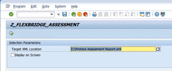 Z Flexbridge Assessment screenshot