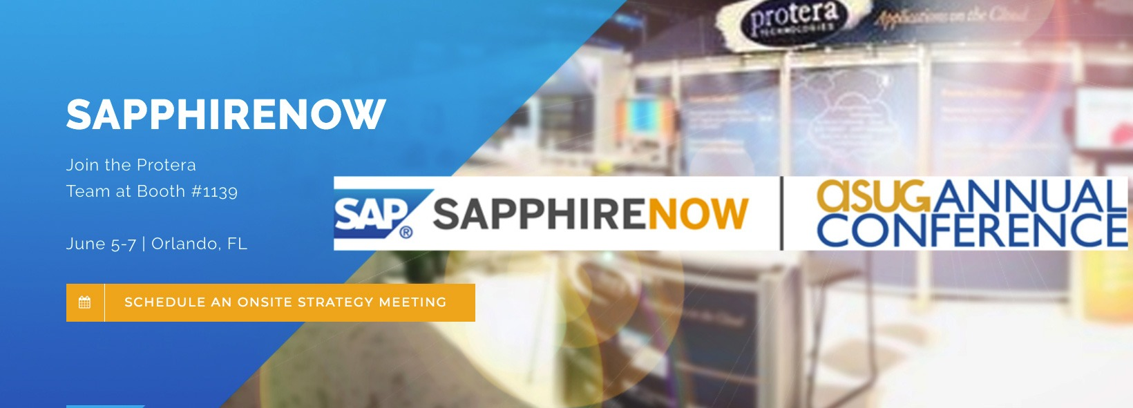 Banner: Protera at Sapphire Now