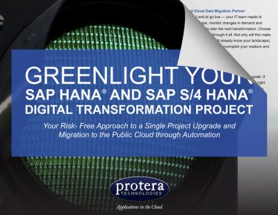 Greenlight Your SAP HANA and S/4HANA Digital Transformation Project