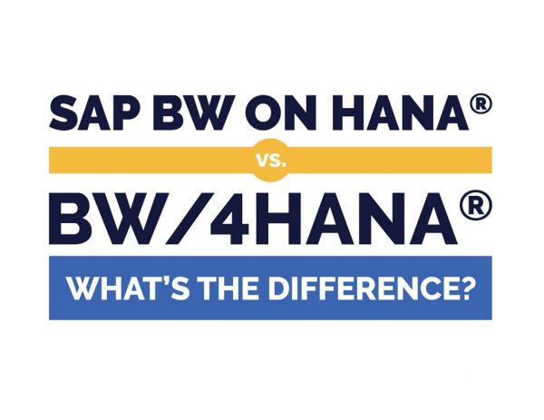 Image: SAP BW on HANA vs. BW/4HANA