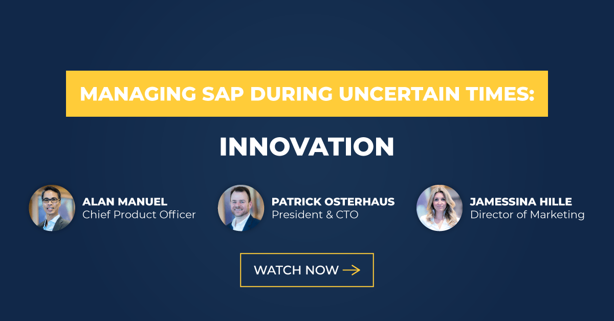 Managing Sap During Uncertain Times Innovation