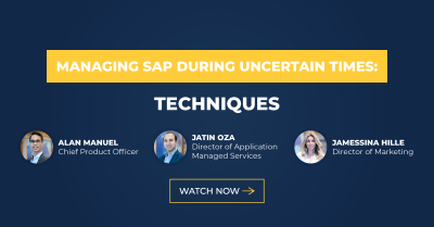 Managing SAP During Uncertain Times: Techniques